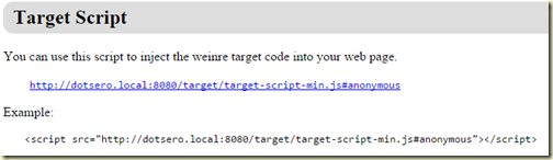 Example of a target script to add to your web app